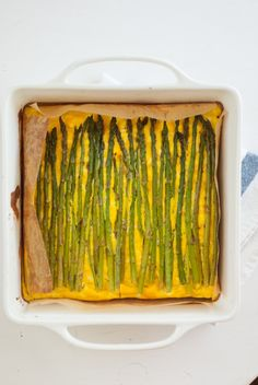 baked asparagus frittata by cookie + katie