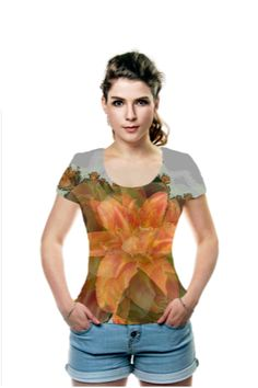 By Rosemarie  Weidmann, OArtTee specializes in creating amazing, vibrant and colorful Wearable Art #Floral #Tshirt #DayLilly