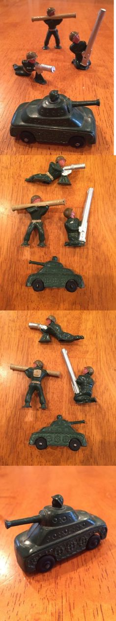 Lead Toys and Figures 152938: Barclay Manoil Lead Toy Soldiers 4Pc Lot Nm Bazooka Missile Launcher Tank Army -> BUY IT NOW ONLY: $58.5 on eBay!