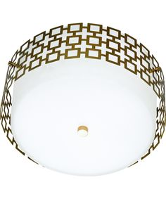 Shown in Antique Brass finish, Frosted White glass and Perforated Metal Outer shade