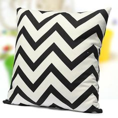45x45cm Vintage Zig Zag Wave Printed Cushion Cover Home Decor Throw Pillow Case