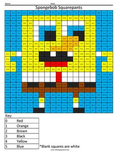 Who lives in a pineapple under the sea? Spongebob Squarepants! Addition math…