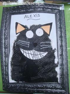Splat !!! c'est le nom d'un petit chat qui ne veut pas aller à l'école des chats ... C'est une série d'albums de Rob Scotton, pleine d'humour.. les enfants adorent . site : le monde de Splat , Rob Scotton Alors , nous lui avons tiré le portrait!!! J'ai...