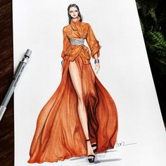 Let the fashion illustrations by Eris Tran - Industria Textil and . - Let yourself be drawn by the fashion illustrations by Eris Tran – Industria Textil and V … – - Dress Design Sketches, Fashion Design Sketchbook, Fashion Design Drawings, Fashion Sketches, Dress Designs, Fashion Drawing Dresses, Fashion Illustration Dresses, Fashion Illustrations, Drawing Fashion