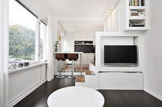 Дизайн квартиры-студии в Стокгольме
