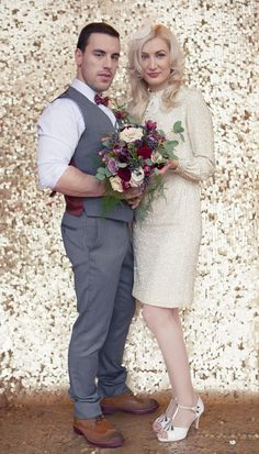 Laid Back Glam Inspirational Photoshoot at Lyrath Estate Wedding Flower Inspiration, Wedding Flowers, Wedding Ideas, Wedding Attire, Wedding Events, Weddings, Glitzy Glam, Gold Backdrop, Rockabilly Wedding