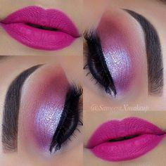 20 ideias de sombra rosa para maquiagem. #sombrarosa #maquiagem