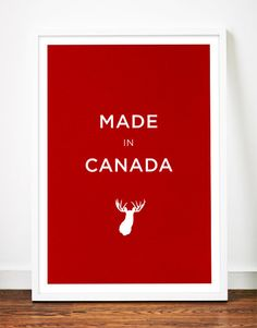 Canada moose poster art print illustration head antlers typography nursery. $19.00, via Etsy.