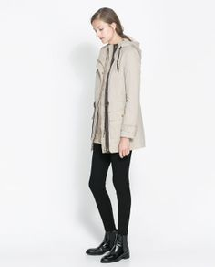 Image 1 of QUILTED PARKA from Zara