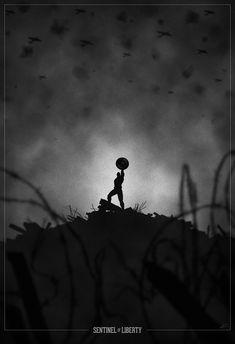 Sentinel of Liberty. Superhero Noir Posters by Marko Manev, via Behance