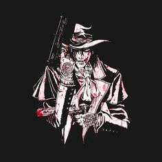 Shop MYSTERIOUS anime t-shirts designed by bradixarttees as well as other anime merchandise at TeePublic. Manga Anime, Anime Naruto, Hellsing Alucard, Van Hellsing Anime, Witchy Wallpaper, Anime Merchandise, Dracula, Cool Pictures, Beautiful Pictures