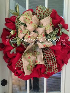 Wreaths from 2013                                             Red Burlap with Twigs and Berries                           Wreaths from 2012...