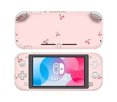 Cherry Skin For Switch Lite, Nintendo Switch Sticker Decal Vinyl Wrap, Switch Lite Decal, Switch Lite Skin Nintendo Switch Case, Nintendo Switch Accessories, Cute Gif, Girl Gifts, 6 Years, Animal Crossing, Video Games, Decals, Cherry