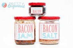 Bacon-Recipes, bacon jam, bacon salt, bacon candy