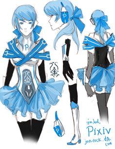 Pixiv chan - Pixiv as an anime character