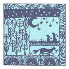 Giclee print taken from 'A Woodland Tale' paper cut by Loula Belle At Home.  Available in three different colours.