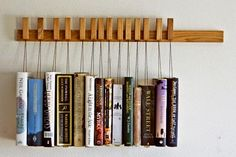 wooden book rack by #OldAndCold