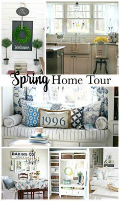 Spring home tour of completely renovated split level home - www.goldenboysandme.com. 2016