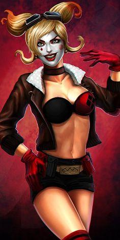 Harley - More at https://pinterest.com/supergirlsart/ #quinn #harleyquinn #dccomics #badgirls
