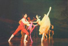 Mathilde Froustey and Vincent Chaillet when they're still students at the Paris Opera Ballet School dancing La fille mal gardee