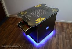 Floating Arcade Effect - custom Space Invaders Cocktail Arcade Machine by Ultimate Arcade Cabinets