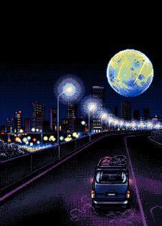 Nighttime drive...vrooommm