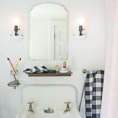 Vintage Check Towels - Navy | Bath Linens | Bed + Bath | Schoolhouse Electric