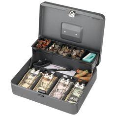 Steelmaster(r) Tiered Tray Cash Box Money Safe Box, Money Box, Mini Things, Cool Things To Buy, Money Envelope System, Cute Bedroom Decor, Cash Box, Ideas Para Organizar, Miniture Things