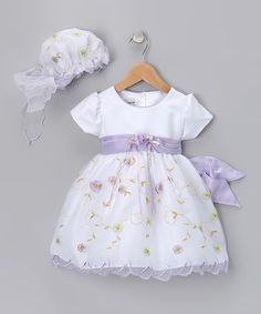 Look what I found on #zulily! Lavender Floral Dress - Infant, Toddler & Girls by LA Sun #zulilyfinds