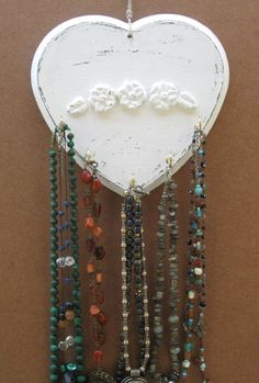 idea for a type of hook for jewelry to hang http://www.brokeandhealthy.com/50-fun-ways-to-hang-your-jewelry