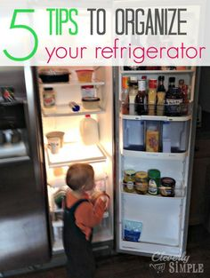 Looking to clean out and organize your refrigerator between holidays?  Here's 5 tips that will help you simplify the process so that you keep it clean!