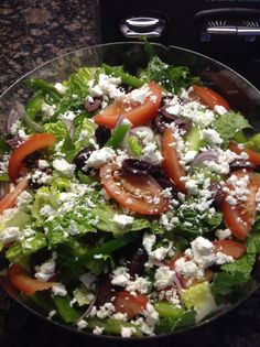 Greek salad homemade by creativewayz Greek Salad, Cobb Salad, Foods, Homemade, Food Food, Food Items, Home Made, Hand Made
