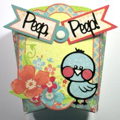 Happy Thoughts card making project idea created by Ann Barba. Join Ann each week as she features a step-by-step project! This week Ann features Hot Off The Press NEW Chick Dazzles Treat Box plus fabulous Holographic Papers! Project ideas, tips and tricks each week!