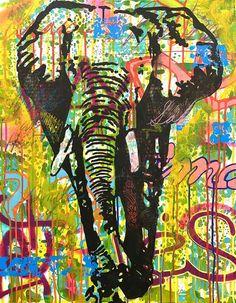 Original Animal Painting by Dean Russo Original Paintings, Original Art, Dean Russo, Acrylic Spray Paint, Bristol Board, Heart Painting, Animal Fashion, Wild Hearts, Medium Art