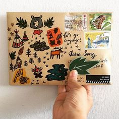 I want to sleep under the stars ✨ ✨✨✨ . Pen Pal Letters, Letter Art, Letter Writing, Mail Art Envelopes, Folded Cards, 3d Cards, Envelope Art, Card Making Tutorials, Happy Mail