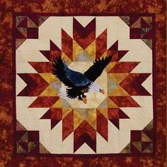 A Blaze of Glory Eagle Quilt Pattern by honeyncloves on Etsy, $9.00