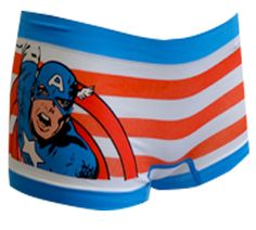 WebUndies.com Marvel Comics Captain America Seamless Boyshort Panty