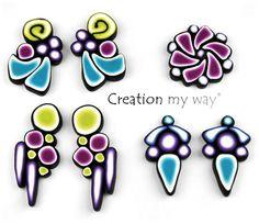 bettina welker's bulls eye cane patterns from creation my way  original class: http://craftartedu.com/bettina-welker-art-deco-earrings