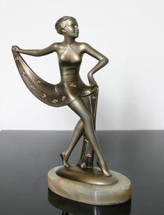 An Art Deco metal figure by Lorenzl,   Austria circa 1930.: