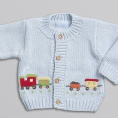Discover thousands of images about sweaters - Applique Train SweaterRavelry: Project Gallery for garter yoke baby cardi pattern by Jennifer HoelThis Pin was discovered by JudCar Pullover pattern by Gail PExamples of knitting decoration art 29 Baby Boy Knitting, Baby Cardigan Knitting Pattern, Knitted Baby Cardigan, Knitted Baby Clothes, Hand Knitted Sweaters, Knitting For Kids, Baby Sweaters, Baby Knitting Patterns, Baby Patterns
