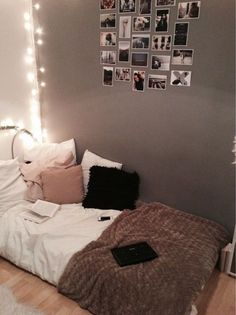 Image via We Heart It https://weheartit.com/entry/163131974 #bed #cute #decorate #home #light #room #style