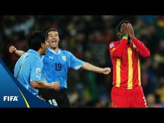 6 years ago today Luis Suarez' famous handball incident sent Uruguay into the semi-finals of the 2010 World Cup Sports Highlights, Match Highlights, Sulley Muntari, Asamoah Gyan, Top 10 Goals, Soccer City, World Cup Games, Full Match, Semi Final