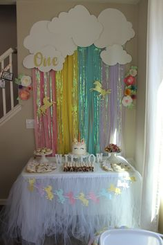 49 Splendid Party Table Decoration Ideas for Sixteenth Birthday - Birthday . 49 Splendid Party Table Decoration Ideas for Sixteenth Birthday – …– – Unicorn Themed Birthday Party, Rainbow Birthday Party, Birthday Party Tables, Unicorn Birthday Parties, Cake Birthday, Funny Birthday, Birthday Wishes, Belated Birthday, Ideas For Birthday Party