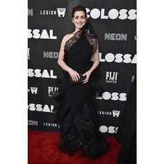 GIORGIO ARMANI DRESSES ANNE HATHAWAY FOR THE COLOSSAL PREMIERE March 28th for the premiere of Colossal in New York actress Anne Hathaway wore a vintage Armani Privé gown from the Spring 2006 collection. The black silk cady gown features embroidered pleated tulle and crinoline fan detailing on the one-shoulder top and skirt. #Colossal #GiorgioArmani @club21thailand  via NUMERO THAILAND MAGAZINE OFFICIAL INSTAGRAM - Celebrity  Fashion  Haute Couture  Advertising  Culture  Beauty  Editorial…