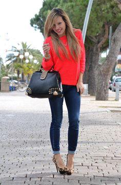 Apricot neon touch  , oasap en Bolsos, Gas en Jeans, Zara en Tacones / Plataformas, H en Jerseys
