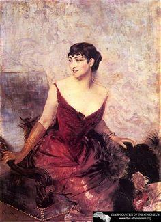 Countess de Rasty Seated in an Armchair  Giovanni Boldini