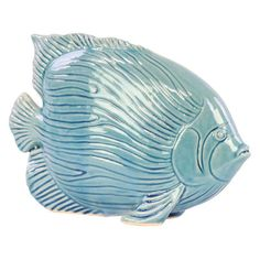 Urban Trends Linear Scale Ceramic Fish Figurine - 32404