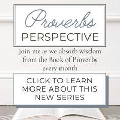 Proverbs Perspective - Milk and Honey Faith