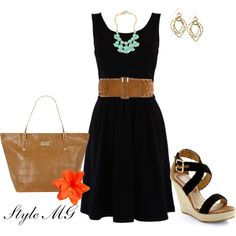 you can't go wrong with a simple black dress AND fabulous shoes and bag to go with it!