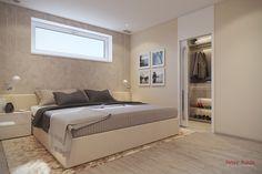 Spálňa so śatníkom Home Room Design, House Rooms, Bench, Interior Design, Storage, Furniture, Home Decor, Projects, Nest Design